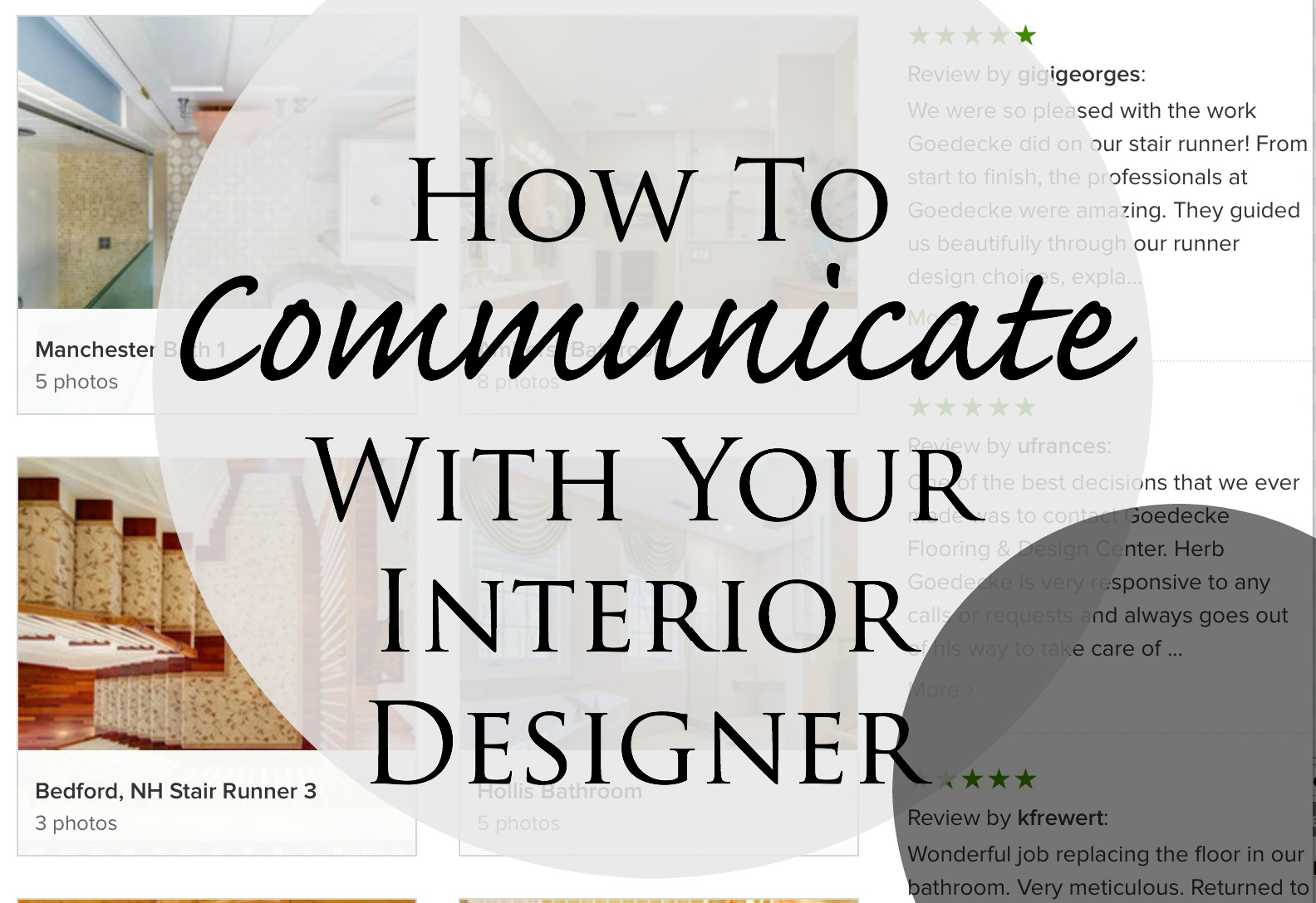 How To Communicate With Interior Designers Goedecke